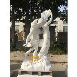 Het beroemde Griekse Roman Naakte God Gegoten Marmeren Beeldhouwwerk van het Standbeeld Apollo en Daphne voor de Decoratie van de Tuin
