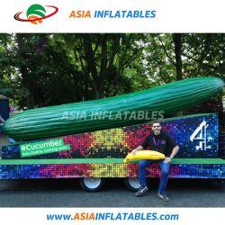 広告のための注文のロゴの巨大な膨張可能な Cucumber モデル
