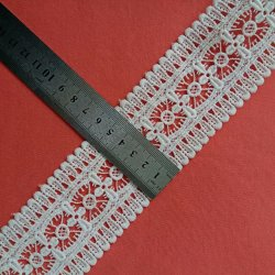 方法衣服Fのためのアフリカのフランスのかぎ針編みのレースのエッジングのトリムの水溶性のレース