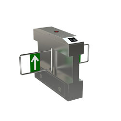 Systèmes de portes de sécurité entrer et sortir de barrière automatique Tourniquet de pivotement de la Porte du Pont de supermarché