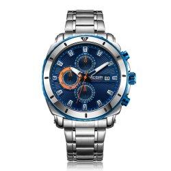 Шикарный Megir мужчин Quartz стальной Wristwatch водонепроницаемый хронограф бизнес-часы мужской военные часы Relogio