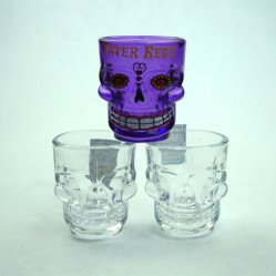 Comercio al por mayor baratos en blanco por sublimación de color violeta reciclado Gin Whisky Brandy Shot Glass