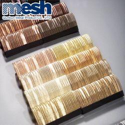 Tissus à mailles métalliques décoratifs pour l'intérieur