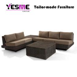 Yesme новый дизайн восьмиугольника цветы плетение модных плетеной удобный диван, мебель для наружного использования внутри помещений