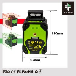 8 lignes de faisceau vert croix laser de niveau ligne