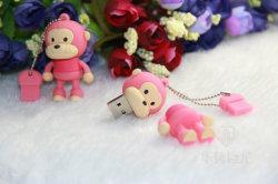 シリコーン猿USBのフラッシュ駆動機構、PVC USBのディスクのペン駆動機構