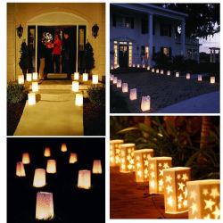 20 шт/много чай в форме сердца держатель фонаря Luminaria фонарь бумаги при свечах в сумке на Рождество Стороной для использования вне помещений свадьбы оформление 2018
