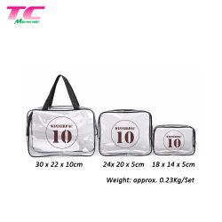 Venda por grosso de vinil transparente Saco com fecho de correr em Lidar com produtos de higiene pessoal cosméticos bag bolsa para armazenamento de Casa de Férias