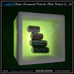 Recipiente de plástico de cubos de LED para a cerveja e o armazenamento de vinho