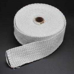 D'aluminium de la vermiculite en silicone haute température en fibre de verre résistant à la chaleur et d'isolation thermique bande tissée en fibre de verre