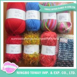 Aangepaste Fancy Ring Spun Nylon Acryl wol hand Knitting garen