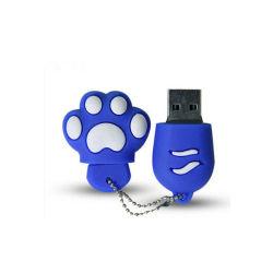 Usb-kreatives Funktionseigenschaft-Silikon Tatze der Katze Mini-USB-Blitz-Laufwerk kundenspezifisches Firmenzeichen 256GB