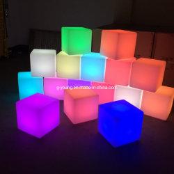 Mobilia esterna del cubo dell'indicatore luminoso LED del giardino di illuminazione del LED