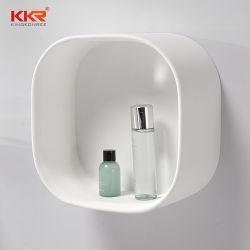 Твердая поверхность камня полки для установки на стену в ванной комнате