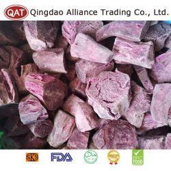 Congelados de alta calidad, violeta, trozos de batata