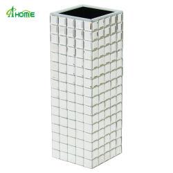 高い装飾的なホーム使用のホームのための銀によって映されるガラスつぼ