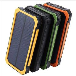 chargeur de batterie étanche de la Banque d'énergie solaire énergie solaire portable Powe banque avec voyant LED