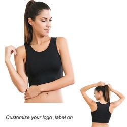 ロゴのバルク卸し売り方法夏デザイン女性の100%年の綿の穀物の上のタンクトップ