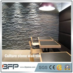 Fabrik-deckt direkte Schiefer-Wand Kultur-dekorative Wand-Steinfliese mit Ziegeln