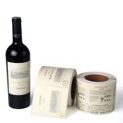Qy-Pl20 maakt Stempelen van de Folie van het document het Hete, UVDeklaag die de Druk van het Etiket van de Sticker van de Fles van de Rode Wijn voor de Fles van de Wijn in reliëf maakt, waterdicht