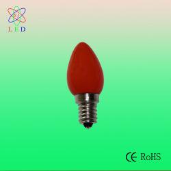 Rote undurchlässige Unterseite des LED-C7 Deckel-E12 für Weihnachtslicht