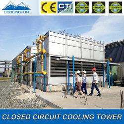 Condensatore evaporativo chiuso diplomato CTI della torre di raffreddamento di flusso trasversale