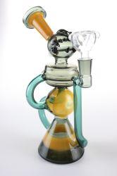 Tubo di fumo all'ingrosso della mano della fabbrica con gli impianti di perforazione di vetro del riciclatore di acqua della sfera di vetro Colourful dei tubi della LIMANDA di fumo dell'olio e del tabacco