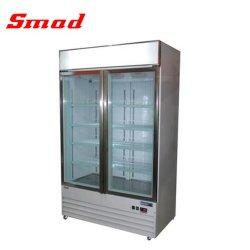 768Lスーパーマーケットのガラス表示冷凍のショーケース冷却装置フリーザー