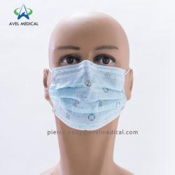 Mulheres e Crianças Beleza Impresso Cirúrgica Medical Nonwoven máscara descartável com laços para as orelhas