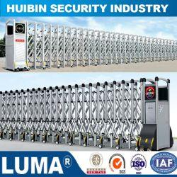 A porta corrediça elétrica retrátil automática, Segurança Barreira dobrável de Aço Inoxidável Gate