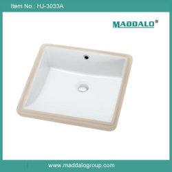Maddalo nouvelle arrivée petit carré en vertu de lavabo en céramique de compteur (HJ-3033A)