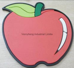 Pleine couleur Logo en relief Coaster Lieu Mat tampon chaud Coaster pour la bière vin tasse de café