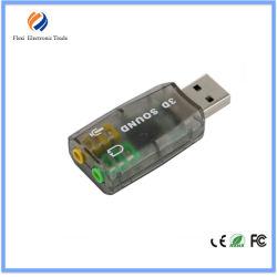 熱い販売法の外部USBの仮想5.1チャネルのサウンドカード