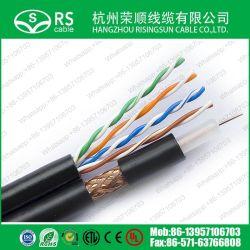 Composite Câble LAN et le câble coaxial RG59+Cat5e, 1000pieds noir