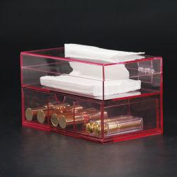 Custodia per confezione di tessuto acrilico a 2 livelli multiuso personalizzata con Cassetti