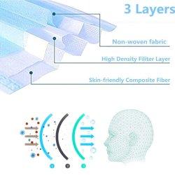 Одноразовые маску для лица для личной безопасности в области здравоохранения и 3-слойные ухо контура Sterivic