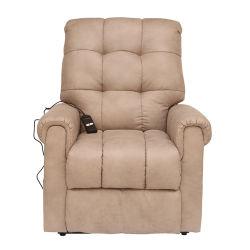 버튼 포인트 디자인 심플한 스타일 소파 PU 가죽 일렉트릭 보관용 백이 있는 의자 리클라이너를 들어 올립니다