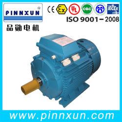 Motore a tre fasi elettrico asincrono della gabbia di scoiattolo della scatola ingranaggi del compressore d'aria della pompa ad acqua di induzione di CA di alta efficienza di Ie2 Ie3