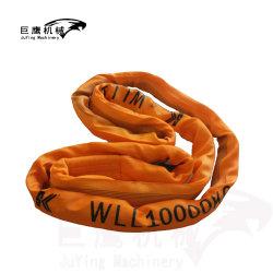 Imbracatura rotonda della tessitura del duplex dell'imbracatura della tessitura del poliestere infinito