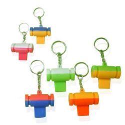 Promotation Kids Toy Colorful Whistle en plastique avec porte-clés (10224290)