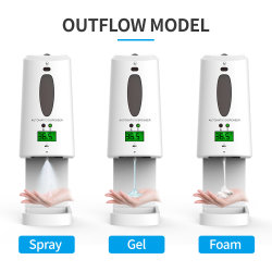 Les fabricants de distributeurs de savon en acier inoxydable de gel de distributeur de savon automatique capteur intelligent Touchless thermomètre de liquide