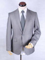 Pronto Stock homens Lã Worsted Cinza Casual Suit Fabric