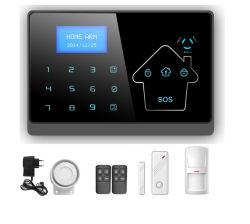 GSM Wolf ограждение системы охранной сигнализации с ЖК-экран для камеры безопасности Испанский Итальянский немецкий голосовой связи (YL-007М2)