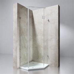 Contenitore per doccia diritto a scorrimento singolo con vetro trasparente da 10 mm