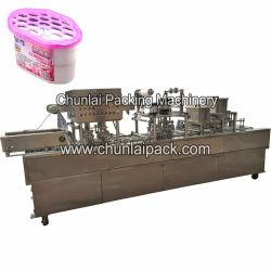 Totalmente automático lineal de absorción de humedad en el hogar de verificación de la máquina de sellado de contenedor de línea de envasado selladora de llenado de calor