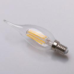 Bougie en verre Accueil de l'éclairage LED LED Ampoule à filament E14 Lampe à économie d'énergie de bougie
