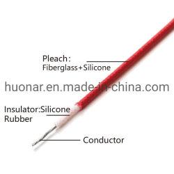 Fibra de Vidro trançado de borracha de silicone de isolamento de fios e cabos trançados fotos de borracha de silicone