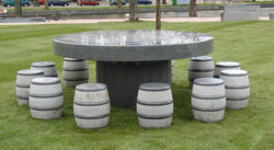 Сад Скульптур, наград сад, гранитные стенде, камень в адрес Председателя