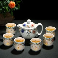 Ensemble cadeau en céramique promotionnel dîner ensemble tasse de thé ensemble de la Chine théière