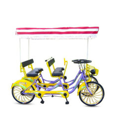 Des bicyclettes de marque Bicystar pour quatre personnes à quatre roues vélo tandem en acier de Surrey quatre personne Surrey